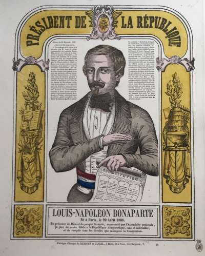 Louis-Napoléon Bonaparte. Président de la république. 1848.