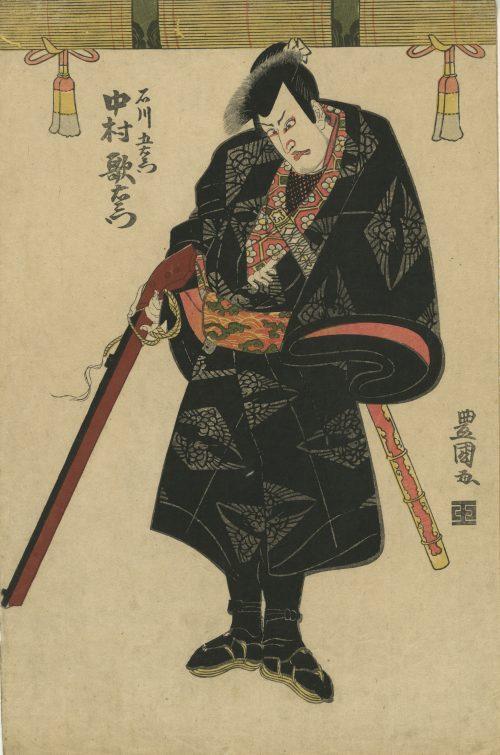 Utagawa Toyokuni I. The actor Nakamura Utaemon as Ishikawa Goemon. Circa 1810.