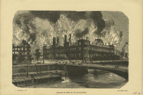 L'incendie de Hôtel de Ville (24 mai 1871)