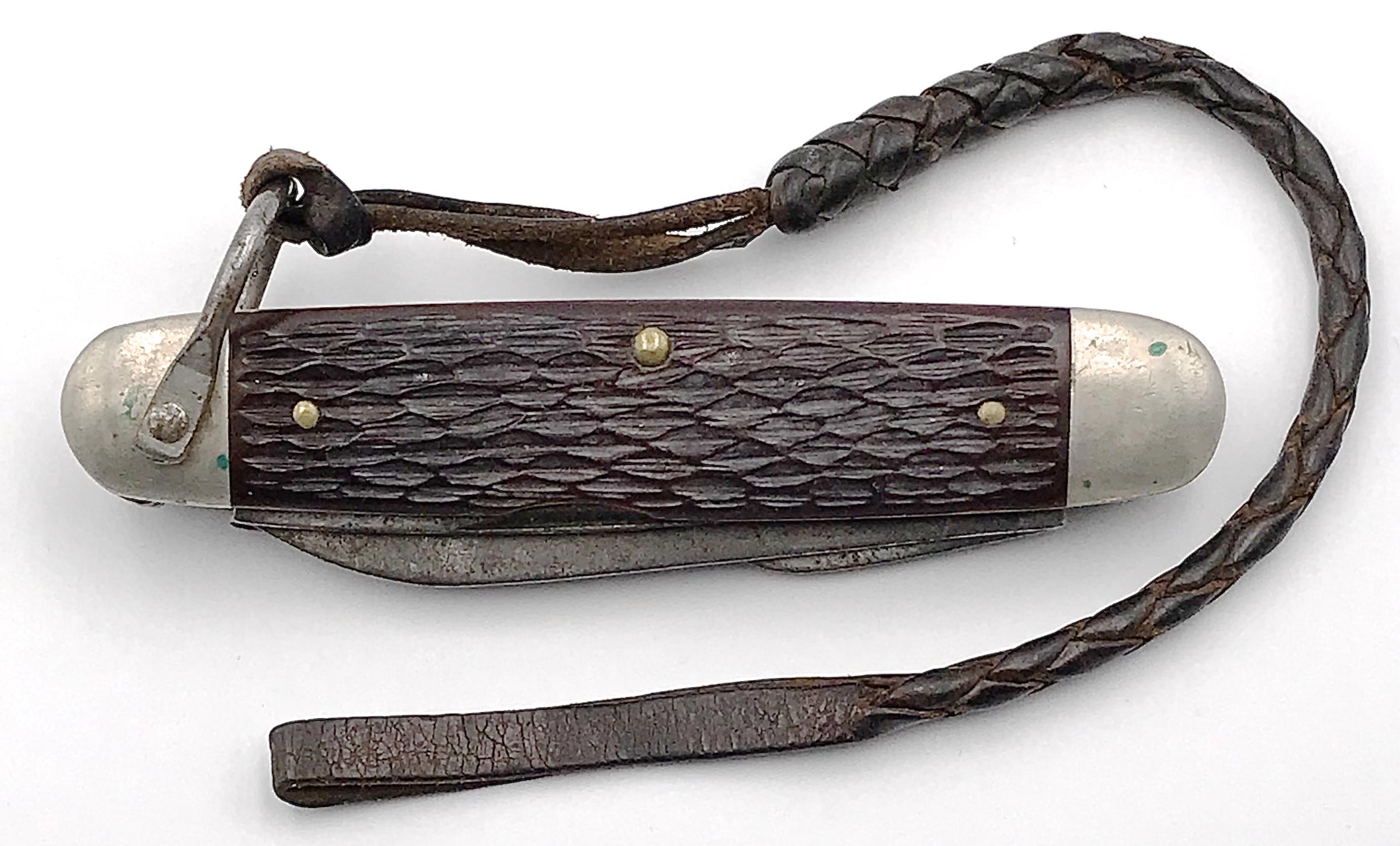 4-blade Ulster boy scout jigged bone plastic folding knife